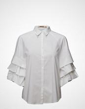 Imitz Shirt L/S Woven Bluse Langermet Hvit IMITZ
