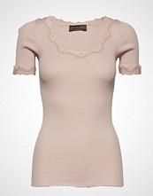 Rosemunde Silk T-Shirt Regular Ss W/ Rev,Vint T-shirts & Tops Short-sleeved Rosa ROSEMUNDE