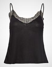 Mango Lace Top T-shirts & Tops Sleeveless Svart MANGO