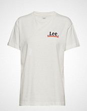 Lee Jeans Chest Logo Tee T-shirts & Tops Short-sleeved Hvit LEE JEANS