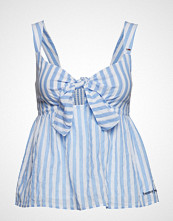Tommy Jeans Tjw Summer Bow Tie S Bluse Ermeløs Blå TOMMY JEANS