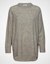 Only Onleve L/S Long Pullover Wool Knt Strikket Genser Grå ONLY