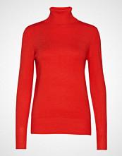 Saint Tropez Roller Neck Sweater Høyhalset Pologenser Rød SAINT TROPEZ