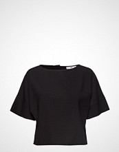 Mango Back Button Blouse T-shirts & Tops Short-sleeved Svart Mango
