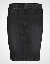 Lee Jeans Pencil Skirt Knelangt Skjørt Svart LEE JEANS