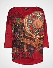 Desigual Ts Taisu T-shirts & Tops Long-sleeved Rød DESIGUAL