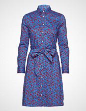 Gant O1. Mid Rose Shirt Dress Knelang Kjole Blå GANT
