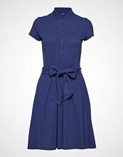 Gant O2. Oxford Pique Ss Dress Knelang Kjole Blå GANT