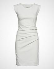 Kaffe India Round-Neck Dress Knelang Kjole Hvit KAFFE