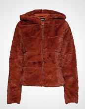 Only Onlchris Fur Hooded Jacket Otw Noos Jakke Brun ONLY