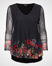 Desigual Ts O´Hara T-shirts & Tops Long-sleeved Svart DESIGUAL