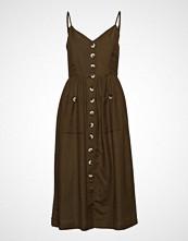 Yas Yasdalia Dress Knelang Kjole Brun YAS