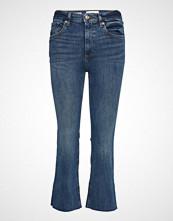 Mango Crop Flared Jeans Jeans Sleng Blå MANGO