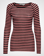 Gai+Lisva Amalie Medium Stripe T-shirts & Tops Long-sleeved Rød GAI+LISVA