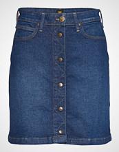 Lee Jeans A Line Skirt Knelangt Skjørt Blå LEE JEANS