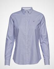Gant Stretch Oxford Solid Langermet Skjorte Lilla GANT