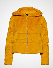 Only Onlchris Fur Hooded Jacket Otw Noos Jakke Gul ONLY