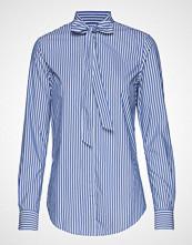 Gant D1. Tp Bc Striped Bow Blouse Langermet Skjorte Blå GANT