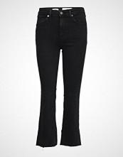 Mango Crop Flared Jeans Jeans Sleng Svart MANGO