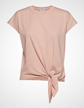 Mango Knot Organic Cotton T-Shirt T-shirts & Tops Short-sleeved Rosa MANGO