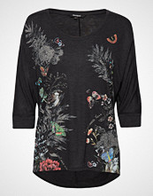 Desigual Ts Keila T-shirts & Tops Long-sleeved Svart DESIGUAL