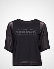 Reebok Performance Wor Myt Mesh Layer Piece T-shirts & Tops Short-sleeved Svart REEBOK PERFORMANCE