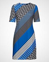 Taifun Dress Knitted Fabric Knelang Kjole Blå TAIFUN