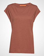 Coster Copenhagen Basic Tee T-shirts & Tops Short-sleeved Brun COSTER COPENHAGEN