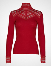 Rosemunde Silk T-Shirt Turtleneck Regular Ls W/Wide Lace T-shirts & Tops Long-sleeved Rød ROSEMUNDE