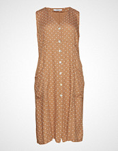Violeta by Mango Polka Dot Midi Dress Knelang Kjole Beige VIOLETA BY MANGO