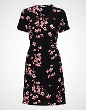 B.Young Byhailey Wrap Dress - Knelang Kjole Svart B.YOUNG