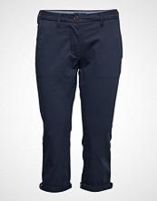 Gant O1. Chino Capri Pant Bukser Med Rette Ben Blå GANT