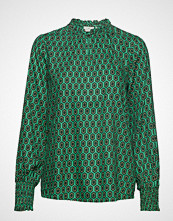 Kaffe Kasally Blouse Bluse Langermet Grønn KAFFE