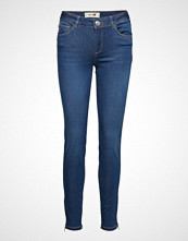 Mos Mosh Victoria Sateen Jeans Skinny Jeans Blå MOS MOSH