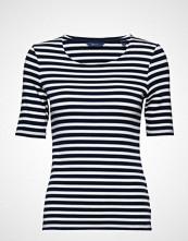 Gant Striped 1x1 Rib Ss T-Shirt T-shirts & Tops Short-sleeved Blå GANT