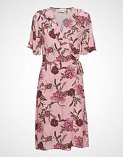 Saint Tropez Woven Dress Over Knee Knelang Kjole Rosa SAINT TROPEZ