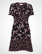 Michael Kors Rose Print Mix Dress Kort Kjole Svart MICHAEL KORS