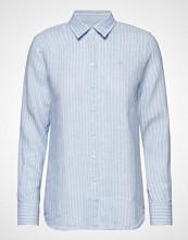 Morris Lady Kirsten Linen Stripe Shirt Langermet Skjorte Blå MORRIS LADY