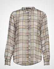 Bruuns Bazaar Check Jasmina Shirt Bluse Langermet Beige BRUUNS BAZAAR
