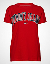 Tommy Jeans Tjw Collegiate Logo, T-shirts & Tops Short-sleeved Rød TOMMY JEANS