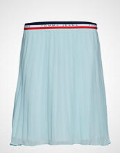 Tommy Jeans Tjw Pleated Skirt Knelangt Skjørt Blå TOMMY JEANS