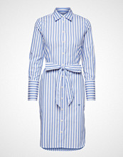 Morris Lady Chiara Striped Shirt Dress Knelang Kjole Blå MORRIS LADY