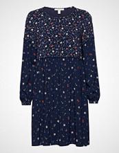 Esprit Casual Dresses Light Woven Knelang Kjole Blå ESPRIT CASUAL