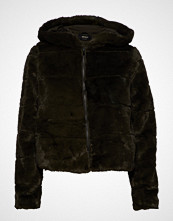 Only Onlchris Fur Hooded Jacket Otw Noos Jakke Grønn ONLY