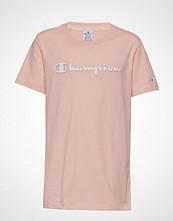 Cènnìs Crewneck T-Shirt T-shirts & Tops Short-sleeved Rosa CHAMPION
