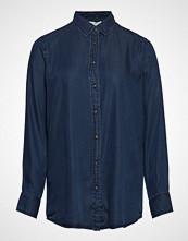 Violeta by Mango Denim Style Soft Shirt Langermet Skjorte Blå VIOLETA BY MANGO