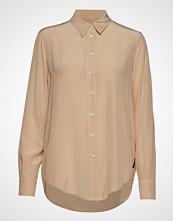 Calvin Klein Silk Shirt Langermet Skjorte Beige CALVIN KLEIN