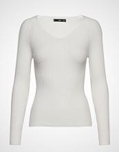 Mango Ribbed Knit Sweater Strikket Genser Beige MANGO