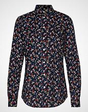Gant D1. Scribbled Floral Stretch Shirt Langermet Skjorte Blå GANT