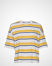 Tommy Jeans Tjw Cropped Multistr T-shirts & Tops Short-sleeved Gul TOMMY JEANS